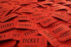 Bilhetes usados para a entrada em um evento Imagens de Stock