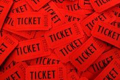 Bilhetes usados para a entrada em um evento Fotos de Stock