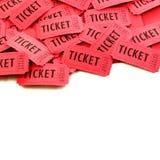Bilhetes usados para a entrada em um evento Fotos de Stock Royalty Free