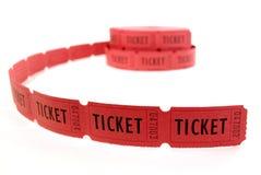 Bilhetes vermelhos Fotografia de Stock