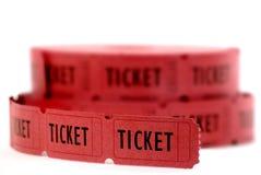 Bilhetes vermelhos Fotos de Stock Royalty Free