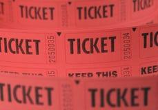 Bilhetes vermelhos em um rolo Imagem de Stock Royalty Free