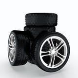 bilhjul Fotografering för Bildbyråer