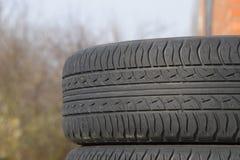 bilhjul Rubber gummihjul Sommargummiuppsättning för bilen W Royaltyfri Fotografi
