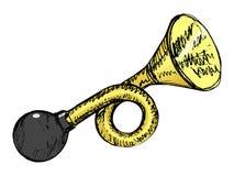 Bilhorn med mycket kraftigt ljud Royaltyfri Fotografi