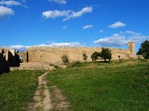 Bilhorod-Dnistrovskyi fortress. A medieval fortress of Akkerman on the Dniester estuary leading to the Black Sea, located in today's southwestern Ukraine Royalty Free Stock Photography