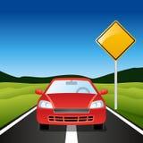 bilhuvudväg Arkivfoto