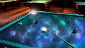 Biliard avec des planètes Image stock