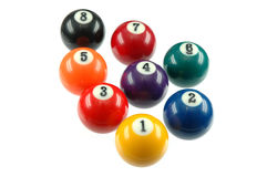 Biliard balls. Billiard balls on white background Stock Photo