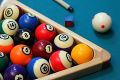 Biliard pool Stock Photos