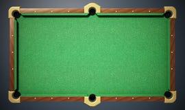 Biliardo con il panno verde Vista superiore illustrazione 3D Fotografia Stock Libera da Diritti
