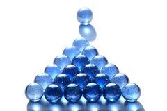Biliardo delle sfere di vetro Immagini Stock