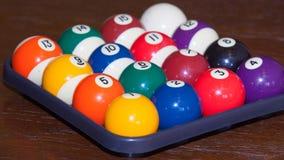 Biliardo, palle da biliardo Fotografia Stock
