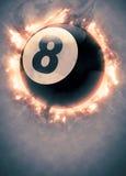 Biliardo, stagno, fondo di sport dello snooker Fotografie Stock