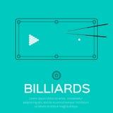 Biliardo, stagno, gioco dello snooker Fotografie Stock
