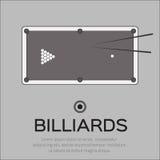 Biliardo, stagno, gioco dello snooker Fotografia Stock