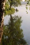 Bilimbayevsky-Teich morgens stockfotografie