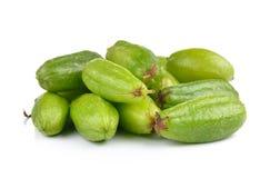 Bilimbi (bilimbi Linn di Averhoa ) o frutta del cetriolo su backg bianco Fotografie Stock Libere da Diritti