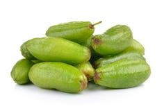 Bilimbi (bilimbi Linn di Averhoa ) o frutta del cetriolo su backg bianco Fotografia Stock Libera da Diritti