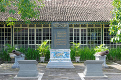 The bilingual Chinese-Javanese inscription in Yogyakarta Sultanate Palace Stock Photos