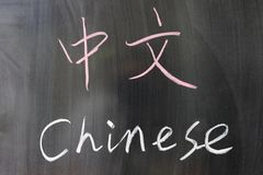 Bilingual Chinese word Stock Images
