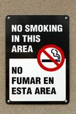 Bilingual No Smoking Sign Stock Image