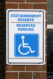 Bilingual sign. Bilingual disabled sign Royalty Free Stock Image