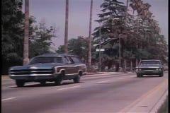 Biljaktändelse i krasch arkivfilmer