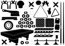 Biljard Vektor Illustrationer