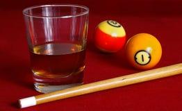 biljardwhisky royaltyfria foton