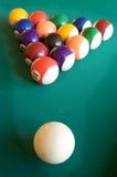 Biljart-lijst met vijftien ballen Stock Afbeelding