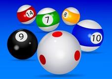Biljartballen stock illustratie