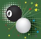 Biljartballen in actie Stock Foto