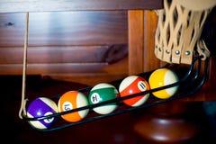 Biljartballen in de zak Royalty-vrije Stock Foto