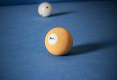 Biljartballen/een Uitstekende stijlfoto van een biljartballen binnen Stock Foto