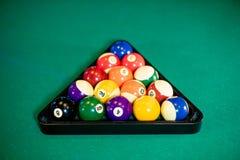 Biljartballen op de lijst Royalty-vrije Stock Afbeeldingen