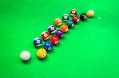 Biljartballen - pool Stock Afbeelding