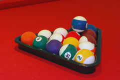 Biljartballen Trinagle Royalty-vrije Stock Afbeeldingen