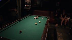 Biljartlijst in Bar stock footage