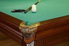 Biljartlijst, gat, ballen Royalty-vrije Stock Afbeelding