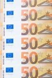 Biljett av 50 euro Arkivfoto
