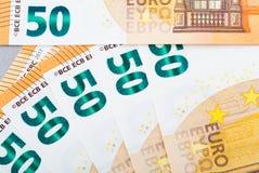 Biljett av 50 euro Royaltyfria Foton