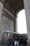 Biljett för ingång till Arc de Triomphe Arkivfoto