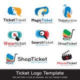 Biljett Logo Template Design Vector Stock Illustrationer