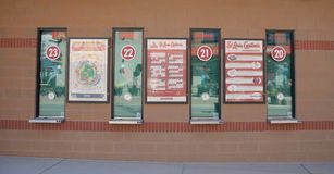 Biljettbiljettkontor på Busch Stadium, i stadens centrum St Louis Arkivbilder