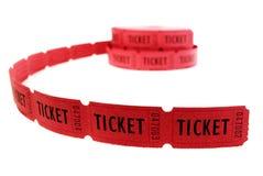 Biljetter som används för ingång in i en händelse Royaltyfri Foto