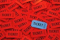 Biljetter som används för ingång in i en händelse Arkivbilder