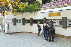 Biljettkontor av den nikitsky botaniska trädgården, Yalta Royaltyfri Bild