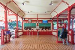 Biljettkontor Hua Hin Station Royaltyfria Foton