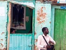 Biljettkontor på ingången av obelisken av Axum, Etiopien Fotografering för Bildbyråer